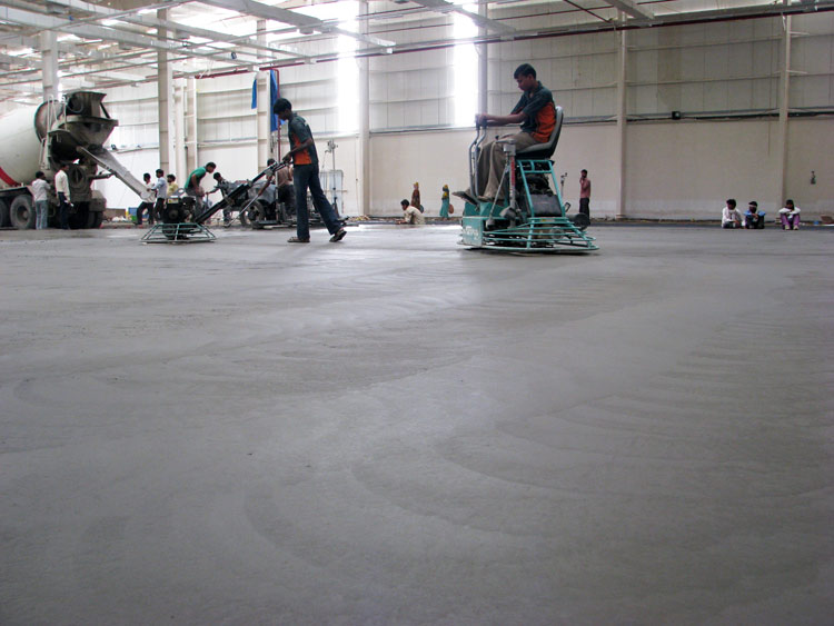 Concrete Flooring With Laser Screed Technique Tremix